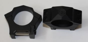 "Sig Sauer Alpha 1"" tube LOW Profile Weaver/Picatinny Steel Rifle Scope Mount Rings"